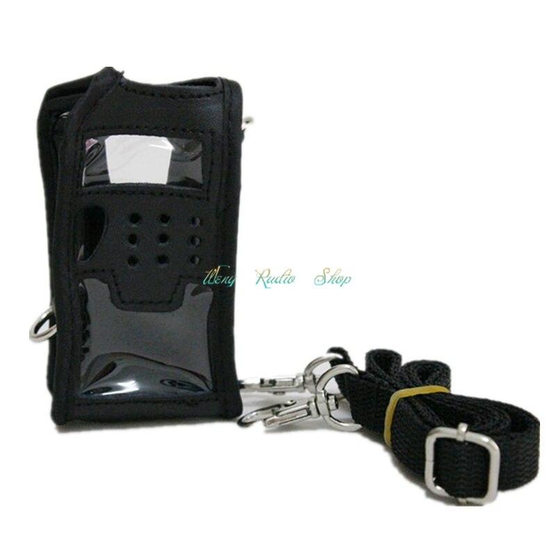 imágenes para Caso de transporte de Cuero suave para baofeng walkie talkie de dos vías radio UV-5R UV-5RA UV-5RC UV-5RE UV-5R Plus TYT F8 + GT-3TP TH-F8