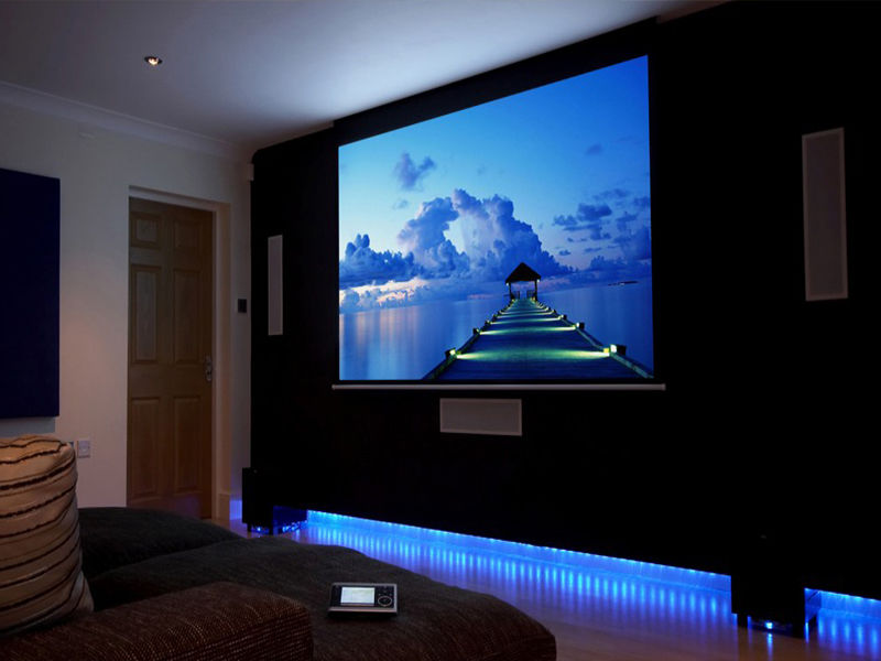 Online buy wholesale electric projector screen from china Motorized projection screens