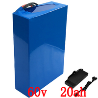 ЕС США нет налога 60 в 20AH литий ионный ebike аккумулятор 60 в 1500 Вт аккумулятор 60 в 20AH Скутер Аккумулятор с 30A BMS + 67,2 в 2A зарядное устройство