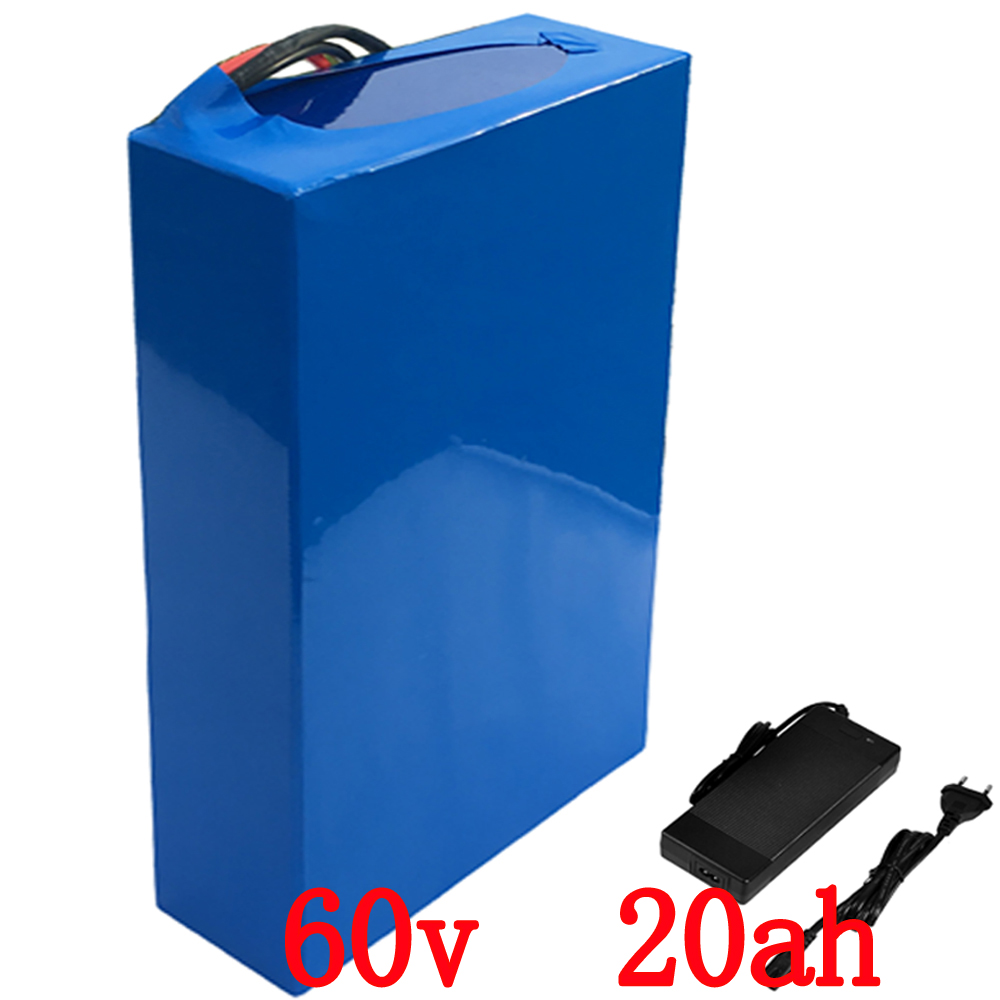 lithium ion ebike battery pack 60V 20Ah 1800W e-bike Battery with 67.2v 2A Charger 30A BMS Lithium Scooter Bicycle Battery atlas bike down tube type oem frame case battery 24v 13 2ah li ion with bms and 2a charger ebike electric bicycle battery
