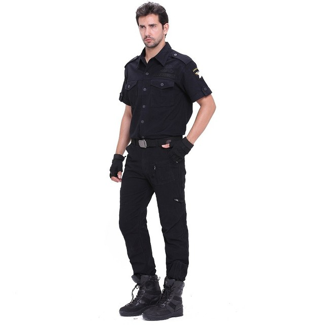 Tactical Pants Army Male Camo Jogger Plus Size Cotton Trousers Many Pocket Zip Military Style Camouflage Black Men's Cargo Pants 4
