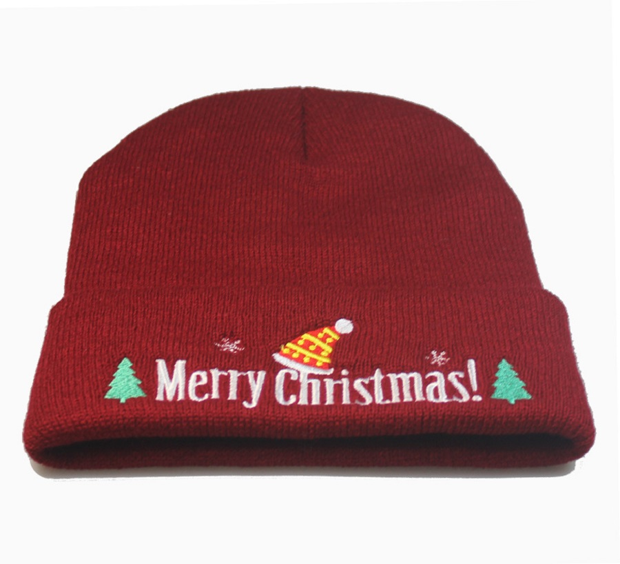 Christmas Hat Cap Skullies Beanies Warm Crochet Knit Hat Women Men Winter New Year Product