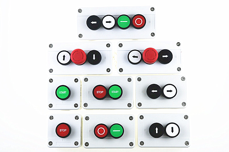 цена With arrow symbol, start stop self sealing waterproof button switch emergency stop industrial handhold control box.