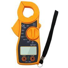 Профессиональный портативный Mt87 Цифровой клещи мультиметр Dc Ac напряжение тока щипцы сопротивление Amp ом тестер электронный Med