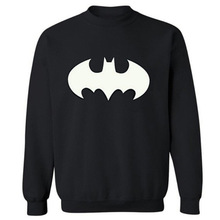 New Men's BATMAN long sleeve T shirt Slim skateboard Street Cotton Top Casual Hooded sweater
