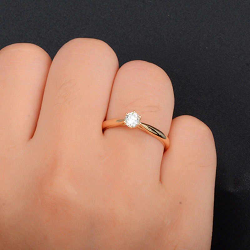 น่ารัก Boho ขนาดเล็กคริสตัล Zircon แหวนแฟชั่นผู้หญิง Silver Gold เครื่องประดับงานแต่งงานแหวนหมั้นสำหรับสุภาพสตรี