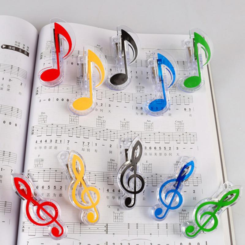 2PC Musical Book Note Clip Plastic Piano Music Book Page Clip Treble Clef Clip Music Accessories
