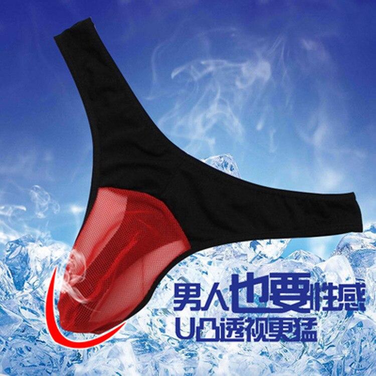 2019 New Arrival Direct Selling Spandex Solid Men Sexy Underwear Yarn Transparent Men's Triangle Sets Underwear men C2032