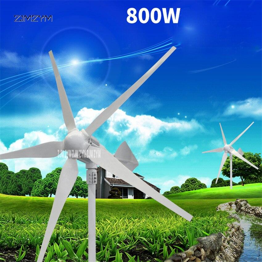 5 lames générateur d'énergie éolienne aimant Permanent alternateur triphasé AC 12 V/24 V/48 V 800 W faible démarrage vitesse du vent Z-800