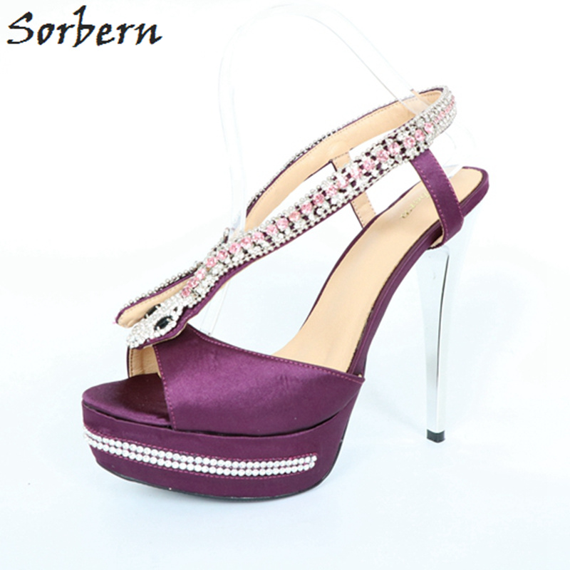 Sorbern Women Sandals Snake Crystal Sandalias Mujer Ladies Party Sandals Shoes Satin High Spike Heels Snake Shoes For WomensSorbern Women Sandals Snake Crystal Sandalias Mujer Ladies Party Sandals Shoes Satin High Spike Heels Snake Shoes For Womens