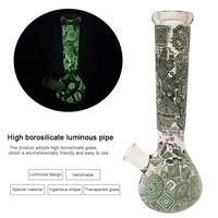 Luminous High Borosilicate Glass Smoking Pipe Tobacco Pipes Filter Set Handmade Ingenious Shape Cigarette Filter Accessories 20E