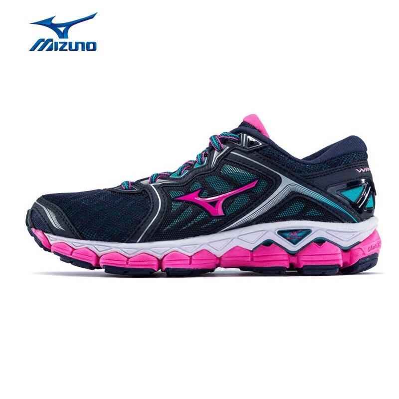 MIZUNO Women WAVE SKY Jogging Running Shoes Cushion Stable Sports Shoes CLOUDWAVE Sneakers J1GD170263 XYP603