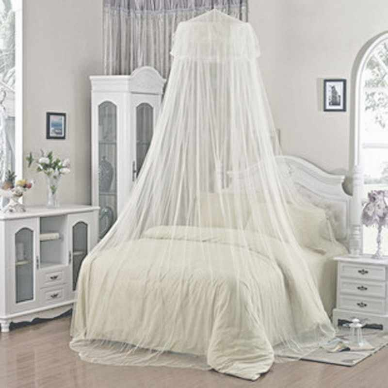 Summer Insect Prevention Elegant Round White Lace Bed Canopy Dome  Mosquito Net P1