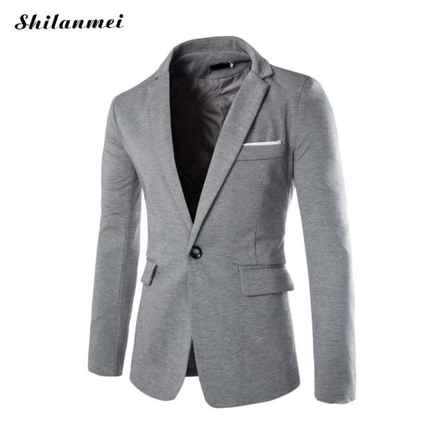 2017 Men Leisure Suit Jacket Coats Long Sleeve Windbreaker Winter Autumn casaco masculino trench coat men abrigo hombre Overcoat