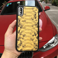 Luxury Yellow Python Skin Most Popular Cell Phone Cases Gift Package Free Shipping