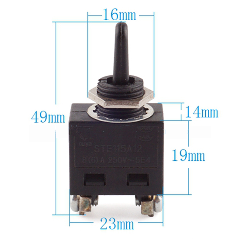3pcs 5E4 AC250V 8(6)A ON/OFF Position SPST Toggle Switches for Makita 9523NB Electric Angle Grinder 5 x on off small toggle switch miniature spst 6mm ac250v 3a 120v 5a