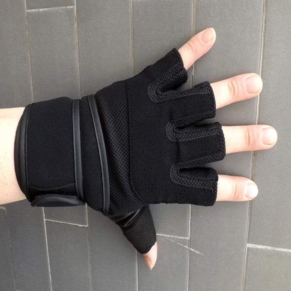 Fingerless gloves climbing - 2017 Fashion Men Winter Durable Breathable Non Slip Rock Climbing Sports Protection Gloves Gants Homme
