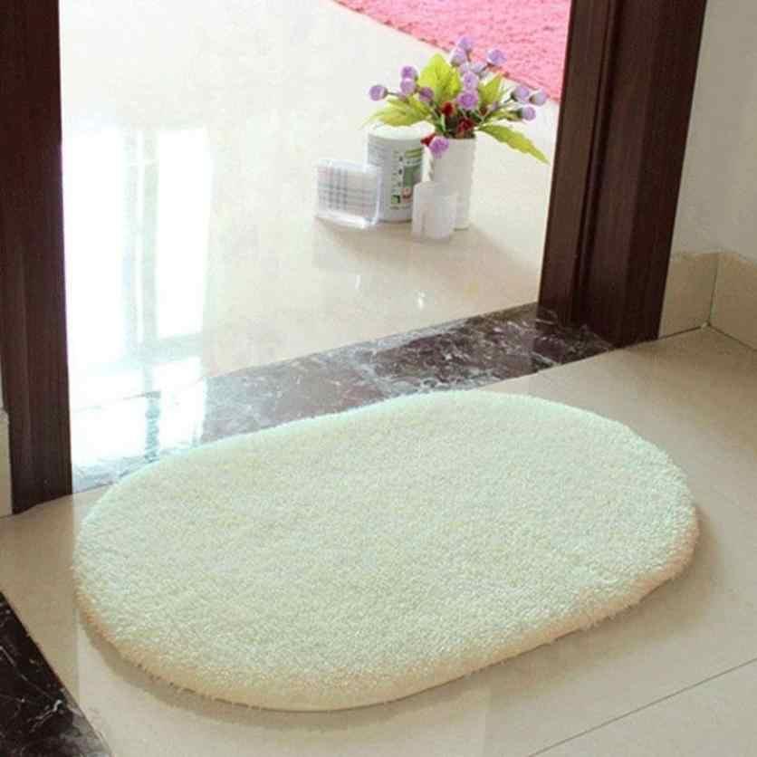 30*40 センチメートルアンチスキッドふわふわシャギーラグマットホームバスルームの床ドアマット楕円形のリビングルームロングヘアをシャギーソフトカーペット