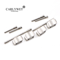CARLYWET Wholesale 1 Set Plated Conversion Kit for Royal Offshore 42mm Watch Rubber Steel End Link