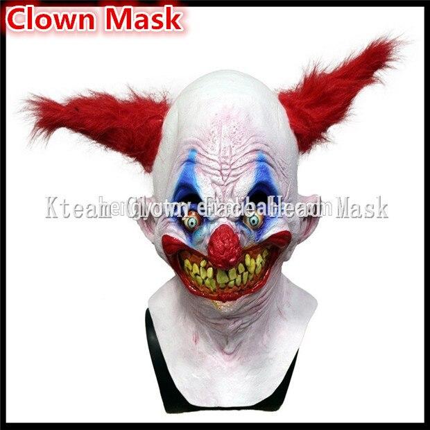 Бесплатная доставка, вечерние костюмы на Хэллоуин, карнавальные, страшные маски клоуна, забавная маска с головой Джокера, маска зомби с полной головкой, карнавальные маски