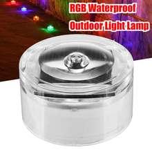 45mA на солнечных батареях RGB уличная лампа светодиодный ночник сад бассейн вид зарытый квадратный светильник водонепроницаемый