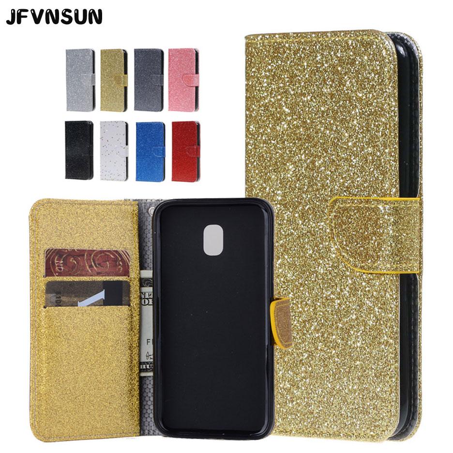 Galleria fotografica For Samsung J5 2017 Case Luxury Bling Glitter Wallet Case for SAMSUNG Galaxy J5 2017 J530 pro Cover NEW Card Holder Phone Bag
