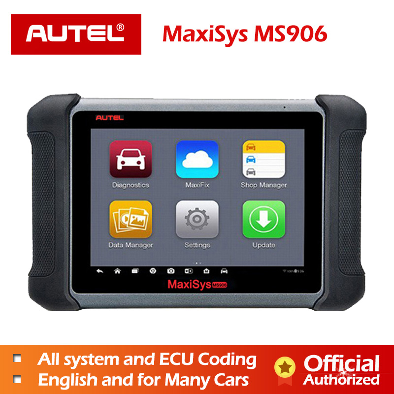 Autel MaxiSys MS906 Diagnostic Tool Scanner Automotivo ECU Coding Programming OBD2/EOBD DS808 AUTEL TPMS Reset MS908 Service OBD-in Engine Analyzer from Automobiles & Motorcycles