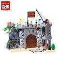 Enleten 366 шт. замок Пираты грабежи казармы солдаты корабль строительные блоки наборы Brinquedos DIY LegoINGLs игрушки для детей