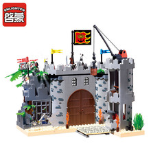 Enlighten Inserted Fight Robbery Barracks Castle Construction castle Bricks DIY Toys Compatible with Legominifigure