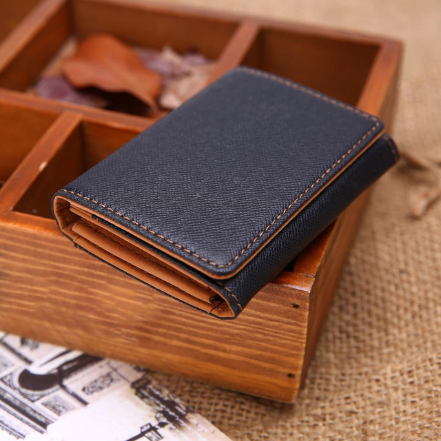 100% brand new and high quality  Men Leather Card Cash Receipt Holder Organizer Bifold Wallet Purse