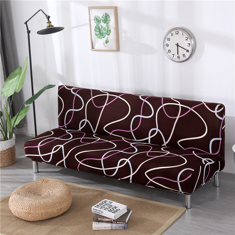 Image 5 - Armless Sofa Cover Stretch Diamond Printing Sofa Bed Cover Sofa Spandex Sofa Covers Without Armrests Elastic couch cover 1PC-in Sofa Cover from Home & Garden