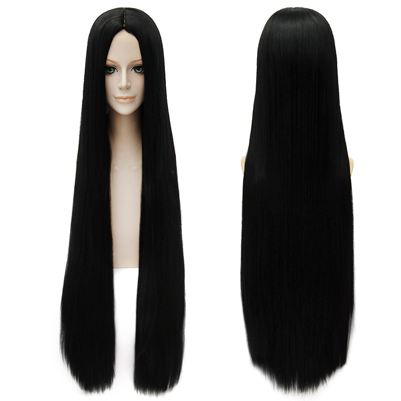 One Piece Boa Hancock 100cm Lonog Straight Cosplay Wigs for Women Female Anime Party Universal Synthetic Hair Wig Black
