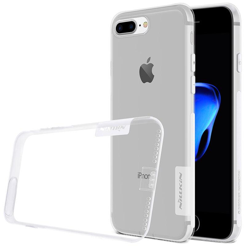 Para iphone 7 plus casos marca nillkin súper suave de tpu transparente volver fu