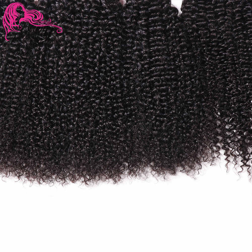 Beauty Forever Malaysian Kinky Curly Human Hair Bundles With Closure 4*4 Free Part 100% Remy Hair Extension