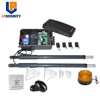 Lpseguridad DC12V AC220V actuador lineal engranaje de gusano abridor automático de puerta oscilante (fotocélulas, lámpara, botón, gsm, teclado opcional)