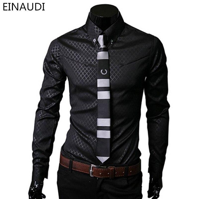 Для мужчин рубашки в клетку брендовая 5xl 2016 Новинка мужская одежда Рубашки для мальчиков с длинным рукавом Тонкий Повседневное черный, белый цвет социальных мужской одежды CHEMISE Homme 25