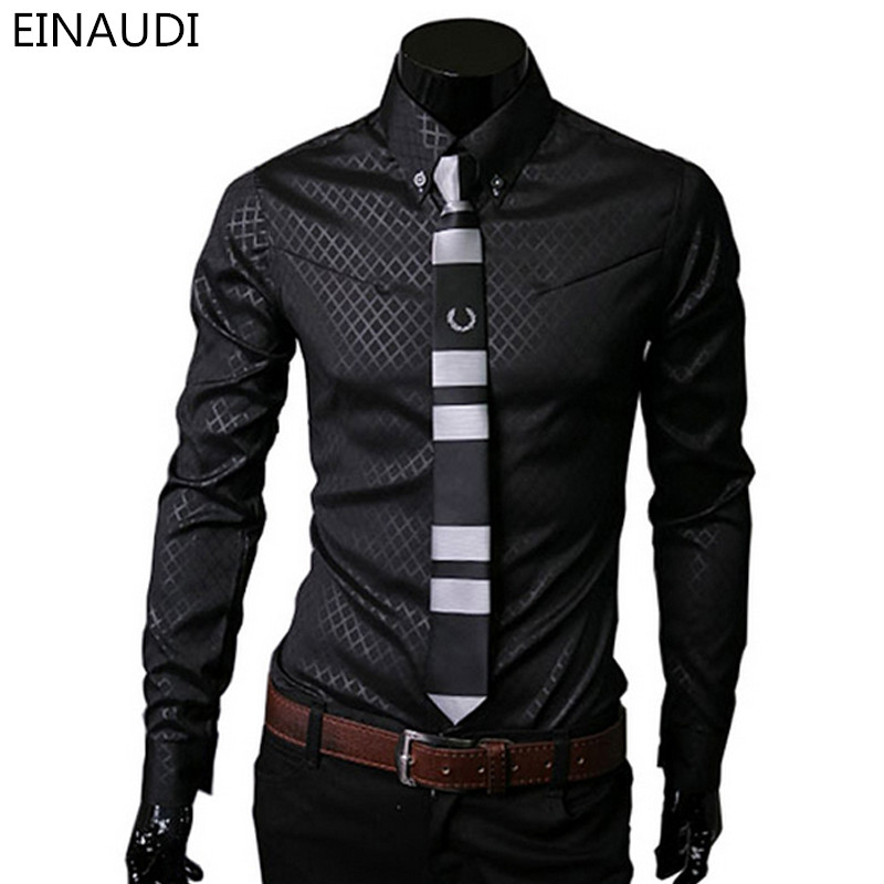 Men Plaid Shirts Brand 5xl 2016 New Mens Dress Shirts Long