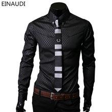черная рубашка в клетку 7