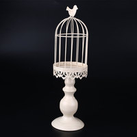 Romantic European Birdcage Tea Light Candle Holder Stand Party Supplies
