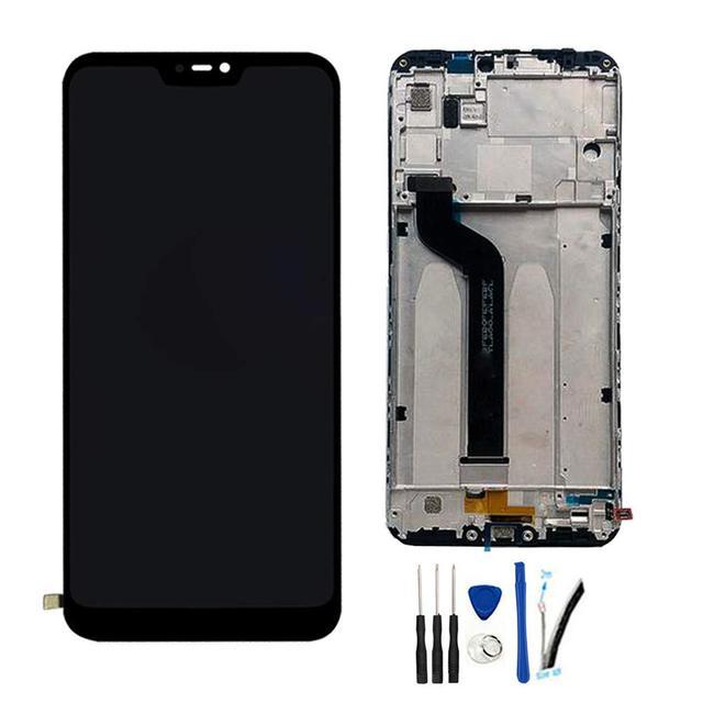 """5.84 """"AAA Kaliteli IPS LCD + Çerçeve Xiao mi mi A2 Lite LCD Yedek PARÇA ekran için kırmızı mi 6 pro LCD 2280*1080 Çözünürlük"""