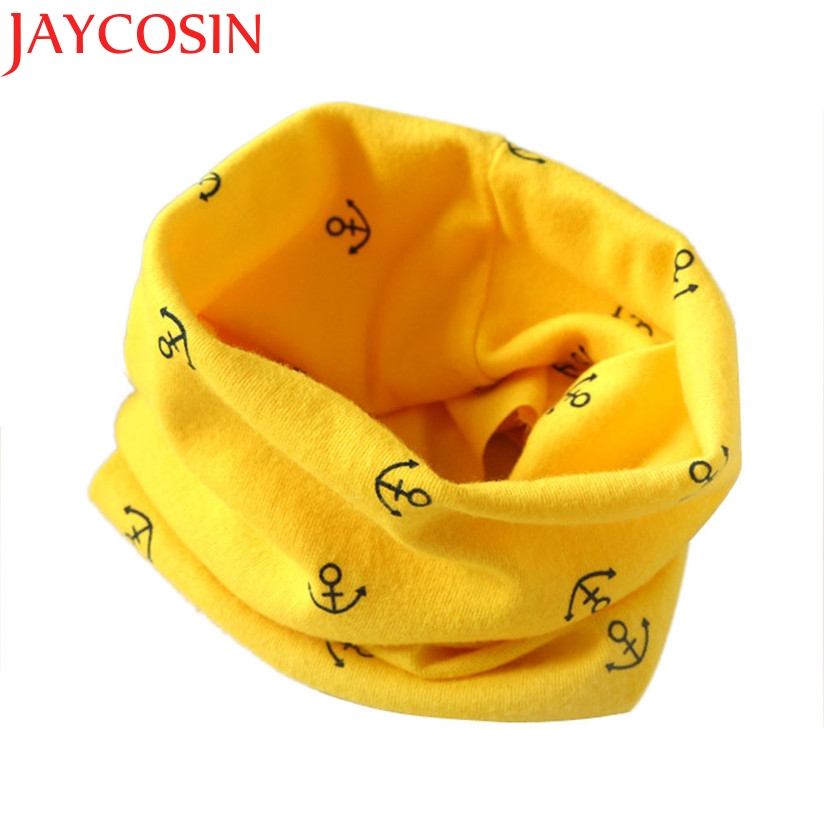 Hot Marketing 7colors Autumn Winter Boys Girls Collar Baby Scarf Cotton O Ring Neck Scarves H21 Drop Shipping