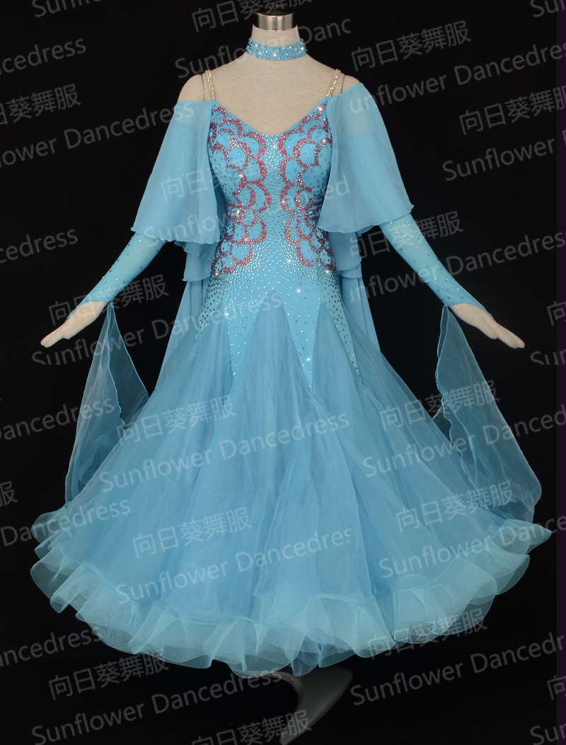 2017 New Competition ballroom Standard dance font b dress b font dance clothing stage wear ballom