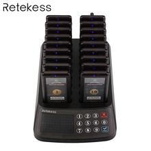 цены TIVDIO 99 Channel Pager Wireless Guest Paging Queuing System 18 Coaster Pager Receiver+1 Keypad Transmitter for Restaurant Court