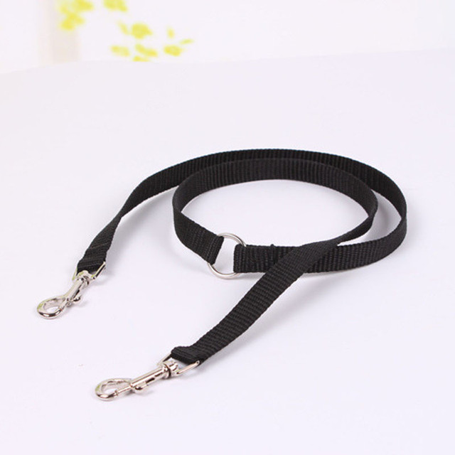 New Safety pet leash Collar for Dog Neck Strap Dog Coupler Twin Lead 2 Way Pet Dogs cats Walk Leash Splitter Nylon Free Shipping