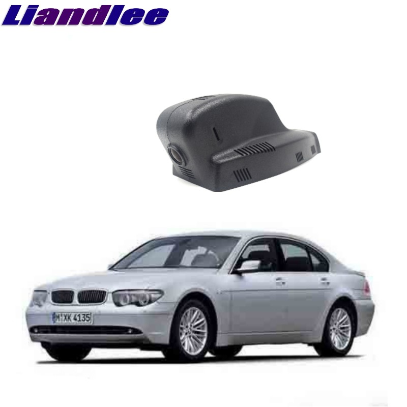Liandlee For BMW 7 E32 E38 E65 E66 E67 E68 1994~2008 Car Black Box WiFi DVR Dash Camera Driving Video Recorder bbq fuka abs car chrome 740li rear trunk letters badge emblem styling sticker fit for bmw e23 e32 e38 e65 e66 7 series