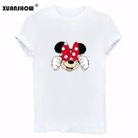 New Type Cute Mickey Mouse Printed Shirt Tops Tee Cartoon Character Summer Short Sleeve T Shirt