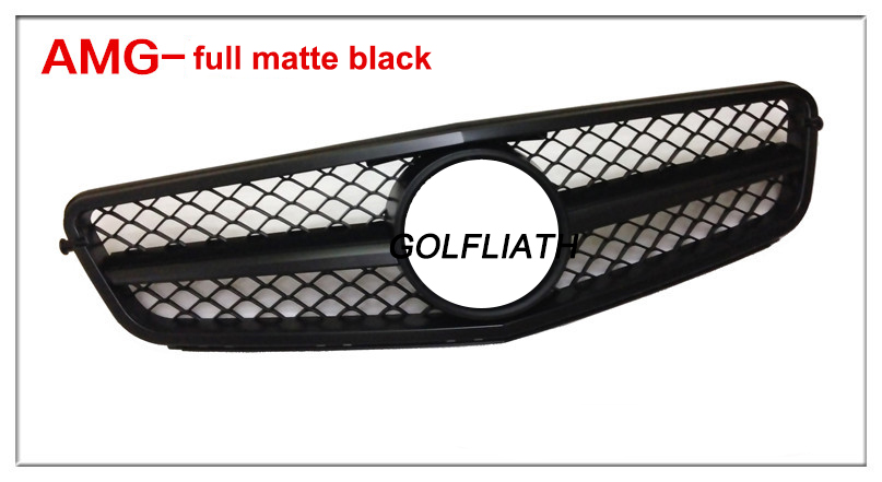 GOLFLIATH For M-B C-Class W204 Grille New C63 AMG style Grille For  2007-2014y C180 C200 C260 C300 mercedes w204 carbon fiber amg look roof spoiler for benz c class 2007 2014 c180 c200 c220 c230