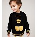 2017 New Spring Brand Kids Knitting gorilla Sweater Kawaii Boys Girls Knitted Letter Printed Sweaters Infant Loose Clothing