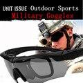 Esportes ao ar livre óculos de Sol Óculos de Proteção Militar Balístico 3 Bala Lente-Exército à prova de Óculos De Sol com Original Caso Tático Eyeshield