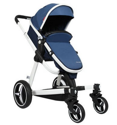 Baby stroller winter cart high landscape hand cart can be lying on a portable folding baby trolley